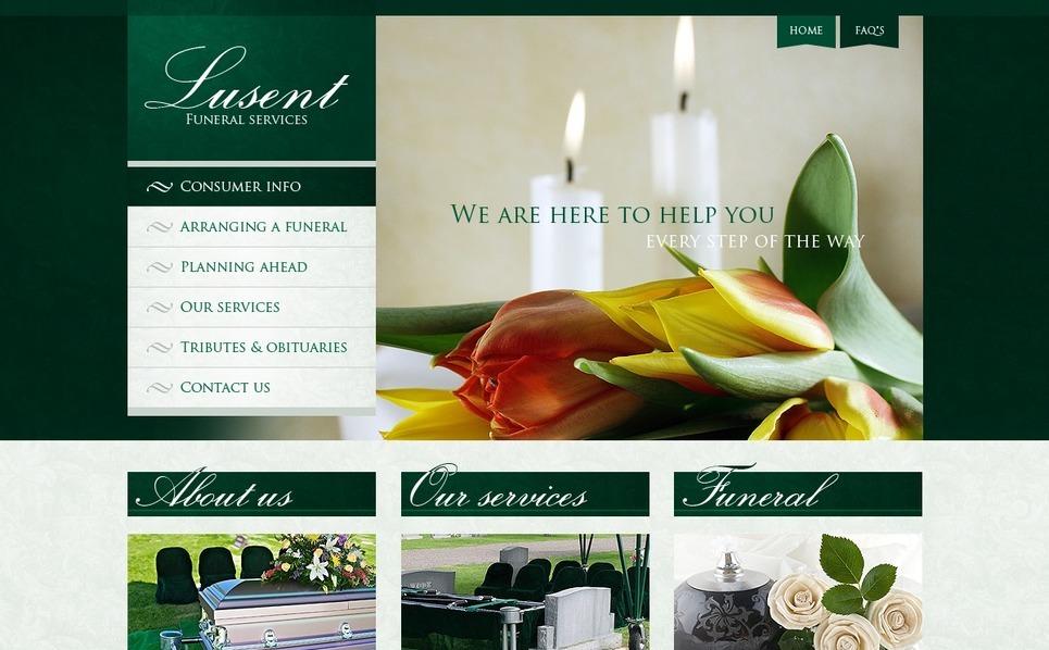 PSD Template over Begrafenisdienst  New Screenshots BIG