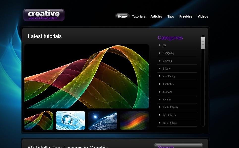 PSD шаблон №54150 на тему дизайн студия New Screenshots BIG