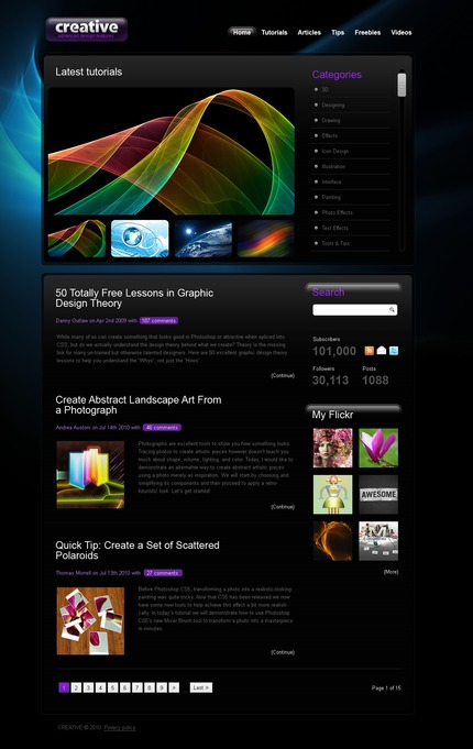 ADOBE Photoshop Template 54150 Home Page Screenshot