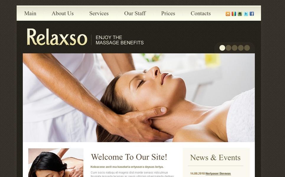 Template Photoshop  para Sites de Salão de Beleza №54152 New Screenshots BIG