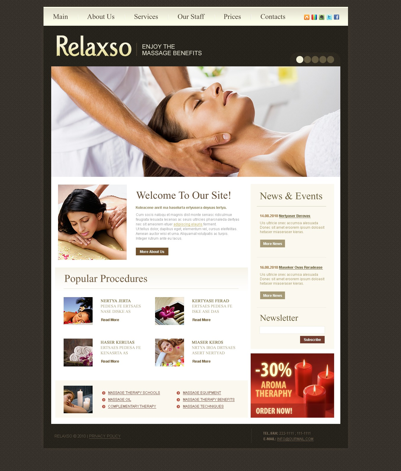 The Relaxso SPA Studio Salon PSD Design 54152, one of the best PSD templates of its kind (beauty, most popular, wide, jquery), also known as relaxso SPA studio salon PSD template, beauty PSD template, cosmetic PSD template, weight loss PSD template, massage PSD template, facial PSD template, body PSD template, style PSD template, product PSD template, staff PSD template, professional PSD template, decorative PSD template, foundation PSD template, cream care PSD template, lipstick PSD template, mascara PSD template, powder PSD template, rouge PSD template, skin PSD template, perfume PSD template, makeup PSD template, education PSD template, consultation PSD template, research PSD template, technology PSD template, special offer PSD template, fashion and related with relaxso SPA studio salon, beauty, cosmetic, weight loss, massage, facial, body, style, product, staff, professional, decorative, foundation, cream care, lipstick, mascara, powder, rouge, skin, perfume, makeup, education, consultation, research, technology, special offer, fashion, etc.
