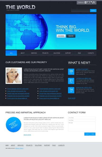 ADOBE Photoshop Template 54155 Home Page Screenshot