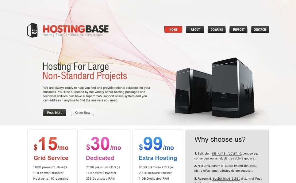 Template PSD  #54157 per Un Sito di Hosting New Screenshots BIG