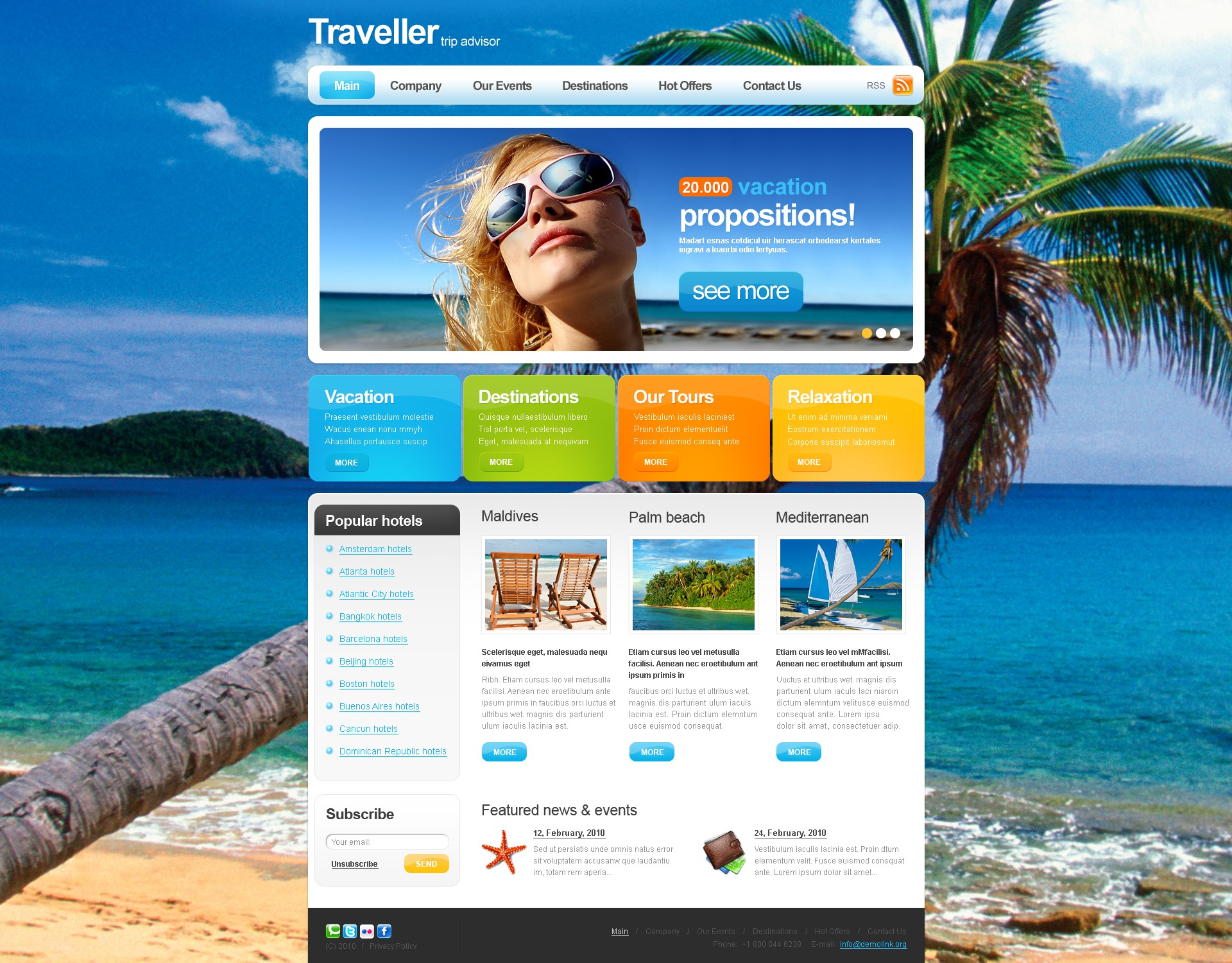 The Traveller Travel PSD Design 54159, one of the best PSD templates of its kind (travel, most popular, flash 8, wide), also known as traveller travel PSD template, expert agency PSD template, compass PSD template, tour country PSD template, resort PSD template, spa PSD template, flight hotel PSD template, car PSD template, rental PSD template, cruise PSD template, sights PSD template, reservation PSD template, location PSD template, authorization PSD template, ticket PSD template, guide PSD template, beach PSD template, sea PSD template, relaxation PSD template, recreation PSD template, impression PSD template, air PSD template, liner PSD template, traveling PSD template, apartment PSD template, vacation PSD template, rest PSD template, comfort PSD template, destinatio and related with traveller travel, expert agency, compass, tour country, resort, spa, flight hotel, car, rental, cruise, sights, reservation, location, authorization, ticket, guide, beach, sea, relaxation, recreation, impression, air, liner, traveling, apartment, vacation, rest, comfort, destinatio, etc.