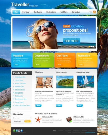 ADOBE Photoshop Template 54159 Home Page Screenshot
