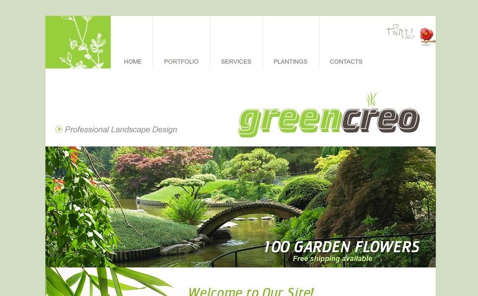 Plantilla PSD #54165 para Sitio de Diseño de paisaje New Screenshots BIG