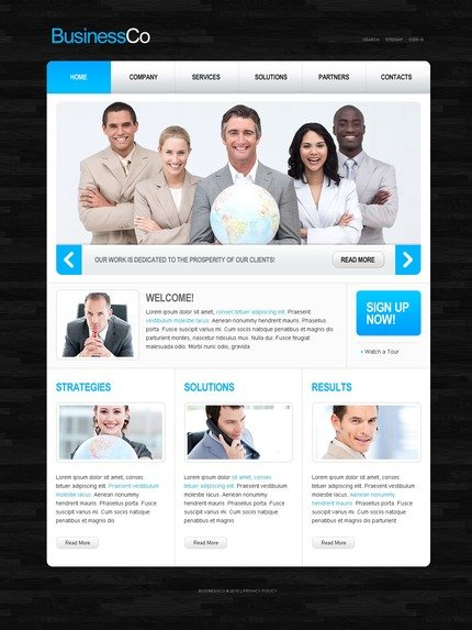 ADOBE Photoshop Template 54167 Home Page Screenshot