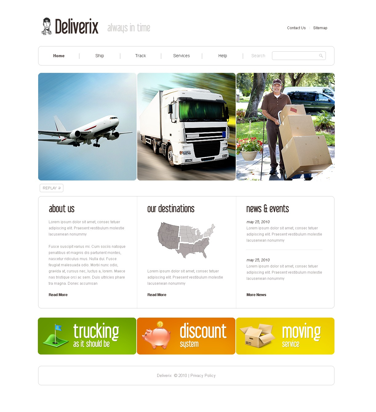 The Deliverix Transportation Company PSD Design 54168, one of the best PSD templates of its kind (transportation, most popular, flash 8, wide), also known as deliverix transportation company PSD template, transport PSD template, fast PSD template, reliability PSD template, safety PSD template, express PSD template, exportation PSD template, trucking PSD template, delivery PSD template, work PSD template, team PSD template, profile PSD template, support PSD template, customer PSD template, clients solutions PSD template, cars PSD template, cargo PSD template, services PSD template, shipment PSD template, rates PSD template, prices PSD template, offer PSD template, standards PSD template, vehicle PSD template, destination PSD template, trucking PSD template, sea and related with deliverix transportation company, transport, fast, reliability, safety, express, exportation, trucking, delivery, work, team, profile, support, customer, clients solutions, cars, cargo, services, shipment, rates, prices, offer, standards, vehicle, destination, trucking, sea, etc.