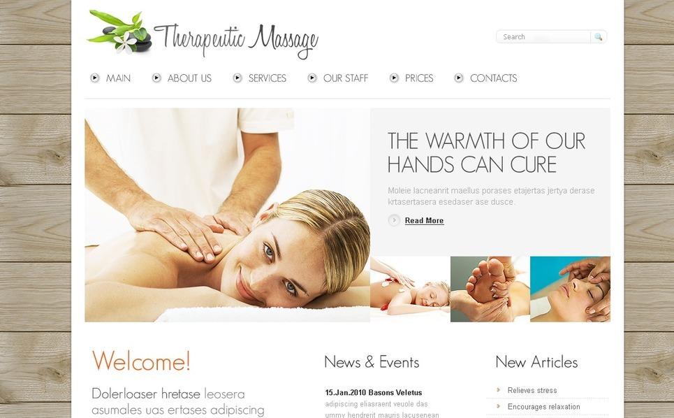 PSD Template over Massage Salon New Screenshots BIG