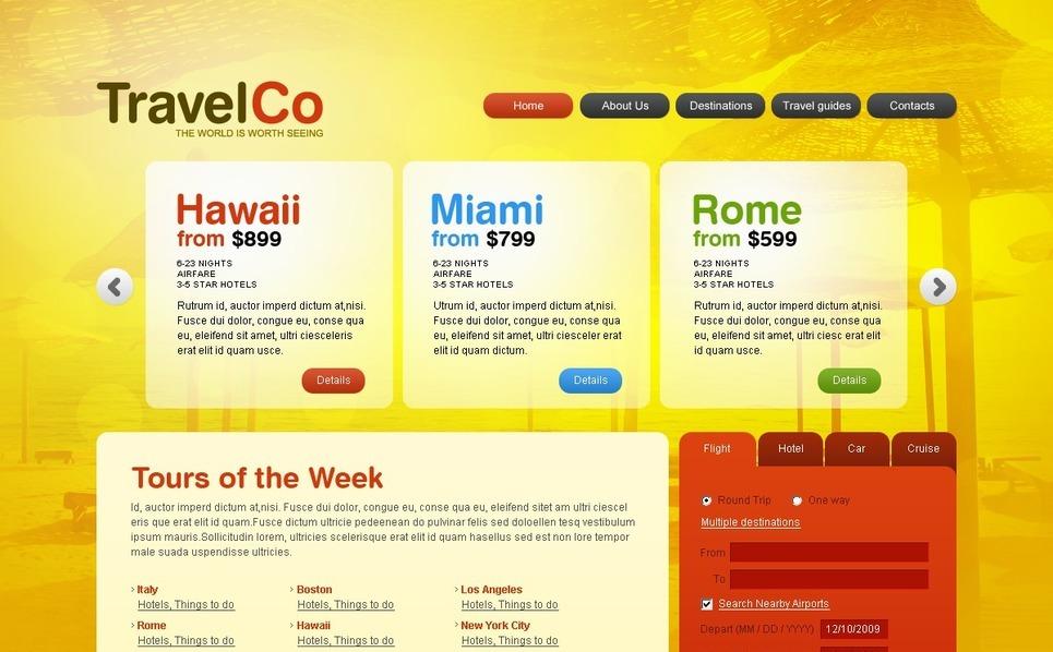 Modèle PSD  pour site d'agence de voyage New Screenshots BIG