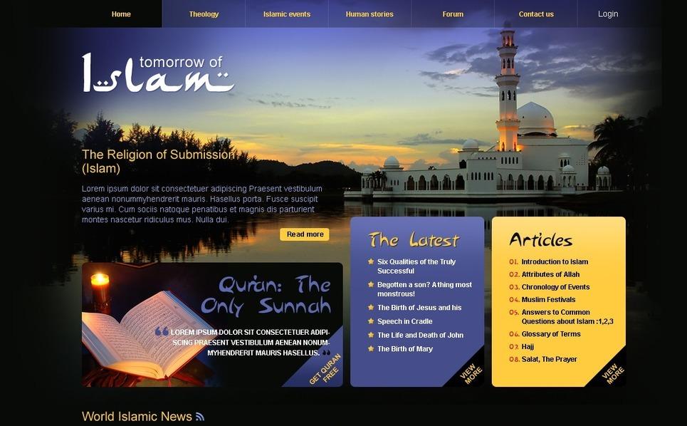 Template Photoshop  para Sites de Islã №54173 New Screenshots BIG