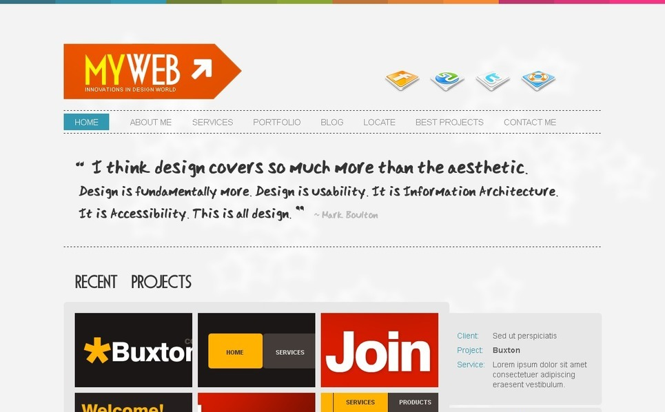 Szablon PSD #54176 na temat: web design New Screenshots BIG