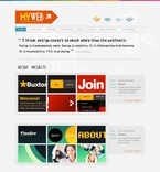 Web design PSD  Template 54176