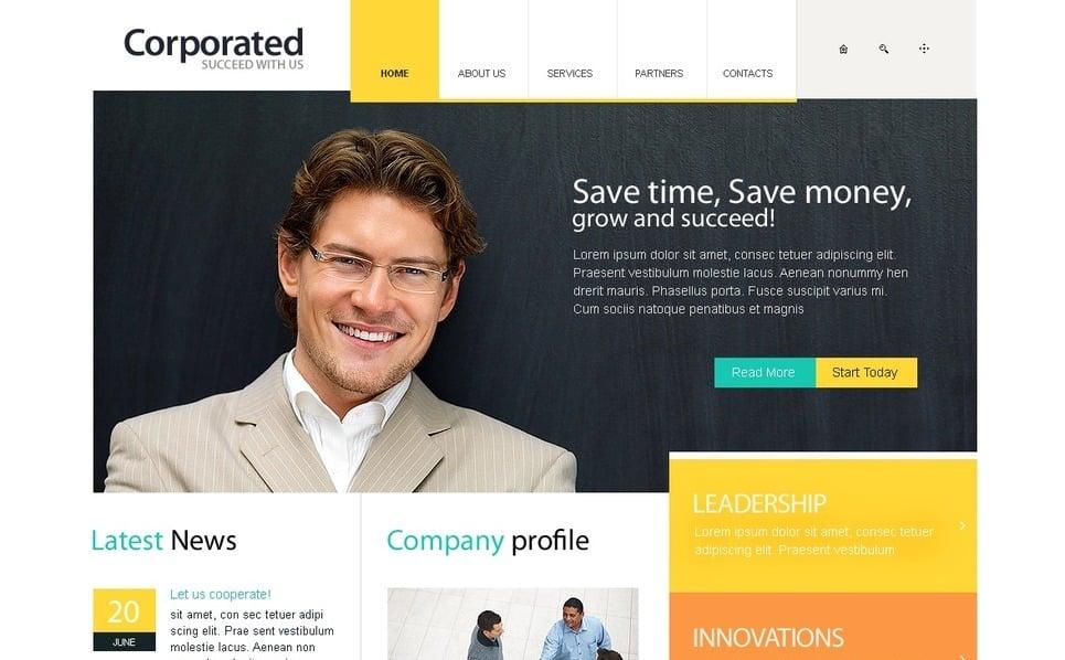Szablon PSD #54177 na temat: biznes i usługi New Screenshots BIG