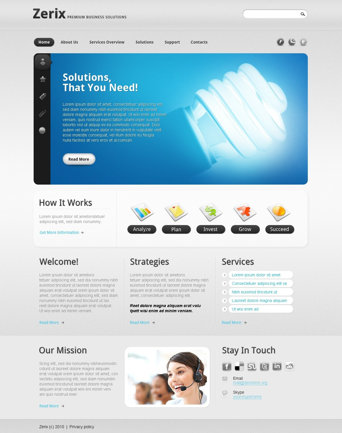 The Zerix Business Company PSD Design 54178, one of the best PSD templates of its kind (business, flash 8, wide), also known as zerix business company PSD template, corporate solutions PSD template, innovations PSD template, contacts PSD template, service PSD template, support PSD template, information dealer PSD template, stocks PSD template, team PSD template, success PSD template, money PSD template, marketing PSD template, director PSD template, manager PSD template, analytics PSD template, planning PSD template, limited PSD template, office PSD template, sales and related with zerix business company, corporate solutions, innovations, contacts, service, support, information dealer, stocks, team, success, money, marketing, director, manager, analytics, planning, limited, office, sales, etc.