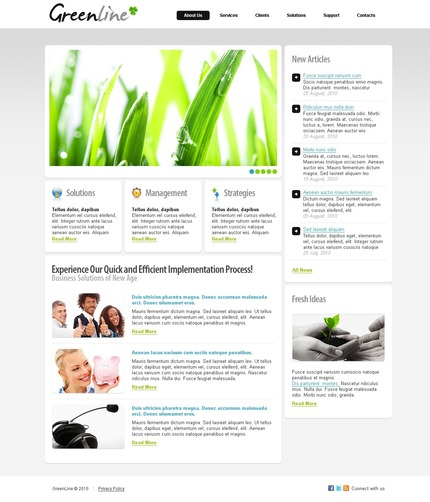 ADOBE Photoshop Template 54183 Home Page Screenshot