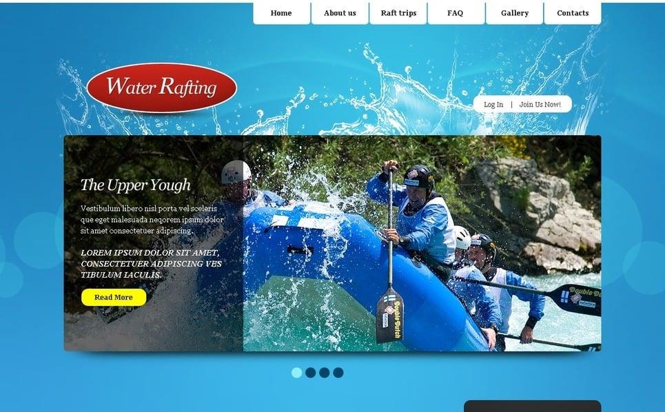 PSD šablona Rafting, Plavba raftem New Screenshots BIG