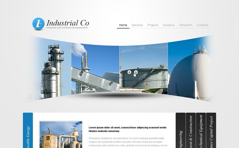 Template PSD  #54187 per Un Sito di Industria New Screenshots BIG