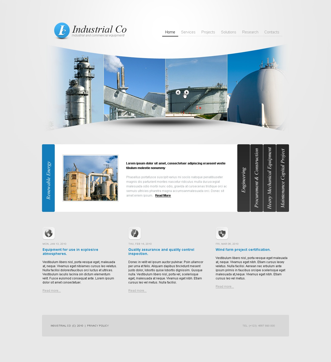 The Industrial Company PSD Design 54187, one of the best PSD templates of its kind (industrial, flash 8, wide, jquery), also known as industrial company PSD template, construction PSD template, architecture PSD template, buildings PSD template, technology PSD template, engines PSD template, innovation PSD template, skyscrapers PSD template, projects PSD template, constructions PSD template, houses PSD template, work PSD template, team PSD template, strategy PSD template, services PSD template, support PSD template, planning solutions PSD template, non-standard PSD template, creative ideas PSD template, catalog PSD template, windows PSD template, doors PSD template, equipment PSD template, car and related with industrial company, construction, architecture, buildings, technology, engines, innovation, skyscrapers, projects, constructions, houses, work, team, strategy, services, support, planning solutions, non-standard, creative ideas, catalog, windows, doors, equipment, car, etc.