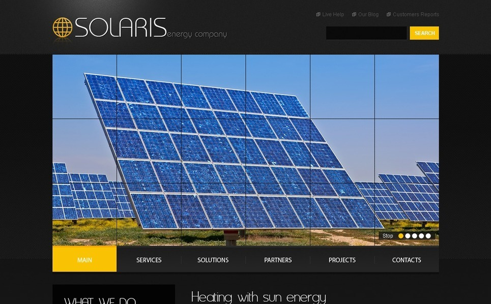 Tema PSD  #54189 per Un Sito di Energia Solare New Screenshots BIG