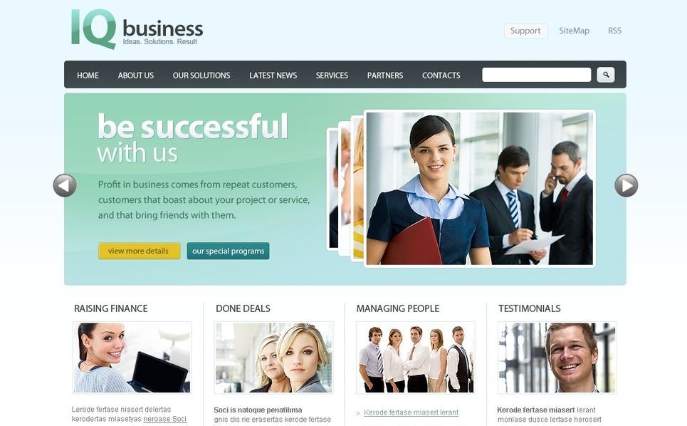 Plantilla PSD #54191 para Sitio de Negocio y Servicios New Screenshots BIG