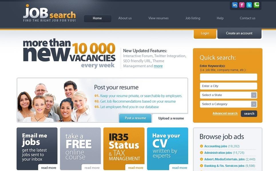 PSD шаблон на тему робочий портал New Screenshots BIG