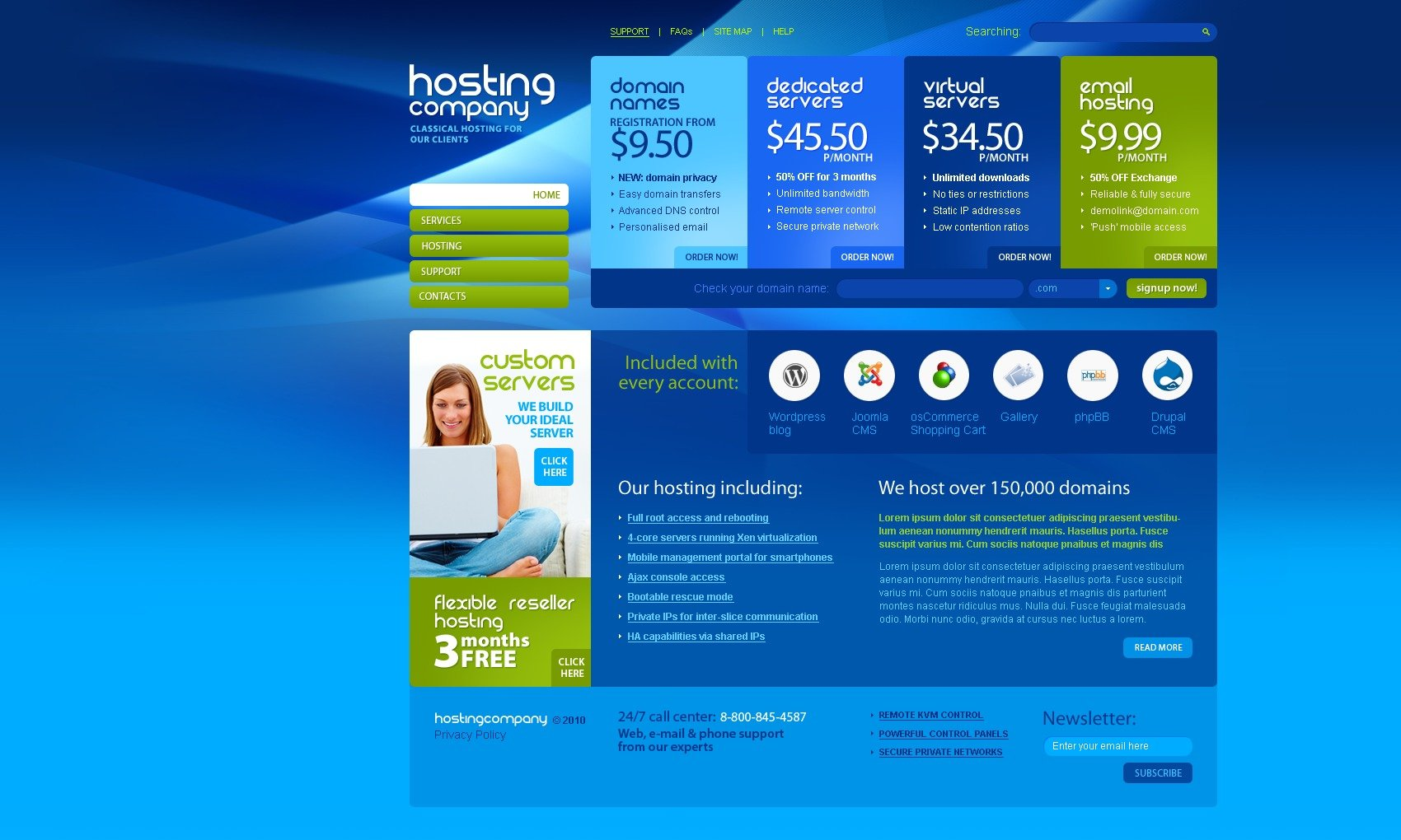 The Hosting Company Solution PSD Design 54196, one of the best PSD templates of its kind (hosting, flash 8, wide), also known as hosting company solution PSD template, domain PSD template, services PSD template, beginner PSD template, plan PSD template, standard PSD template, advanced PSD template, dedicated PSD template, workteam PSD template, tools PSD template, special offer PSD template, server PSD template, monitoring PSD template, management PSD template, account PSD template, activation PSD template, client PSD template, technology solution PSD template, data center provider PSD template, traffic PSD template, internet PSD template, web IT processor PSD template, spa and related with hosting company solution, domain, services, beginner, plan, standard, advanced, dedicated, workteam, tools, special offer, server, monitoring, management, account, activation, client, technology solution, data center provider, traffic, internet, web IT processor, spa, etc.