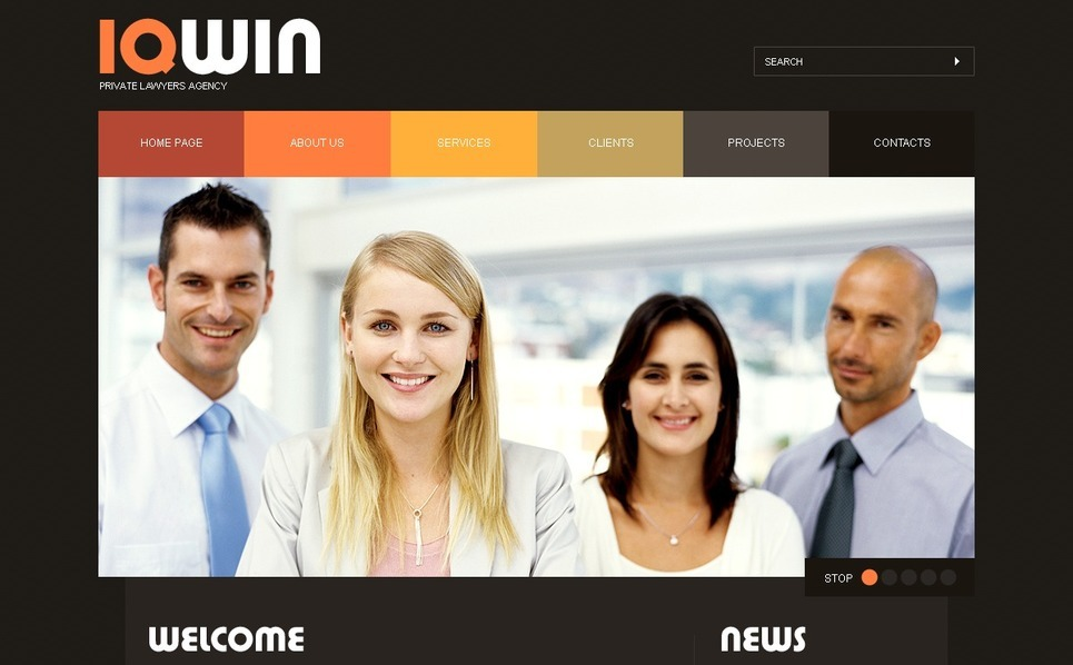 法律专题网站PSD模板 New Screenshots BIG
