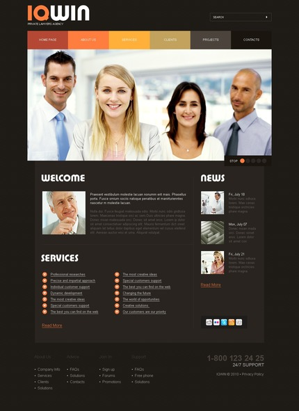 PSD макет сайта №54197