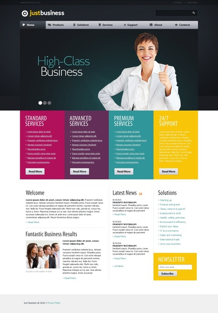 ADOBE Photoshop Template 54199 Home Page Screenshot
