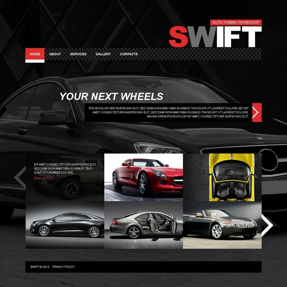 Car Tuning PSD Template New Screenshots BIG