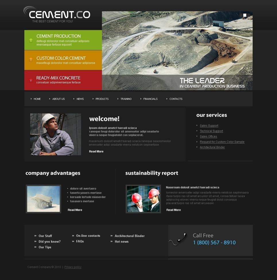 Cement PSD Template New Screenshots BIG