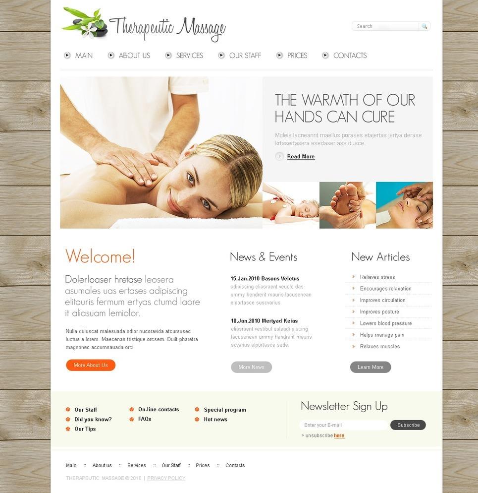 Massage Salon PSD Template New Screenshots BIG