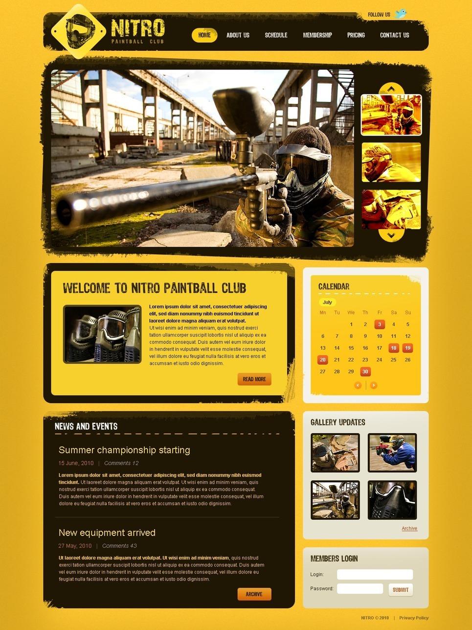 Paintball PSD Template New Screenshots BIG