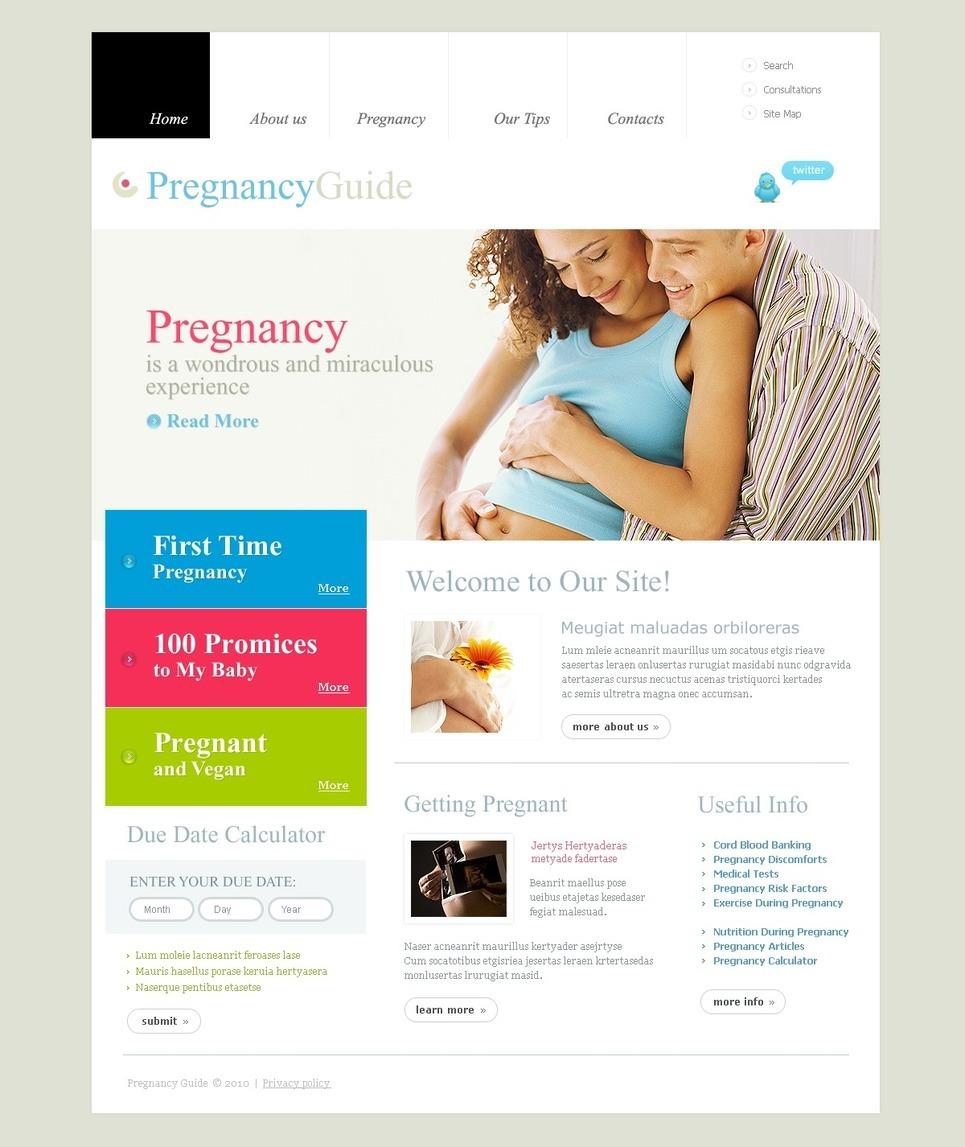 Pregnancy PSD Template New Screenshots BIG