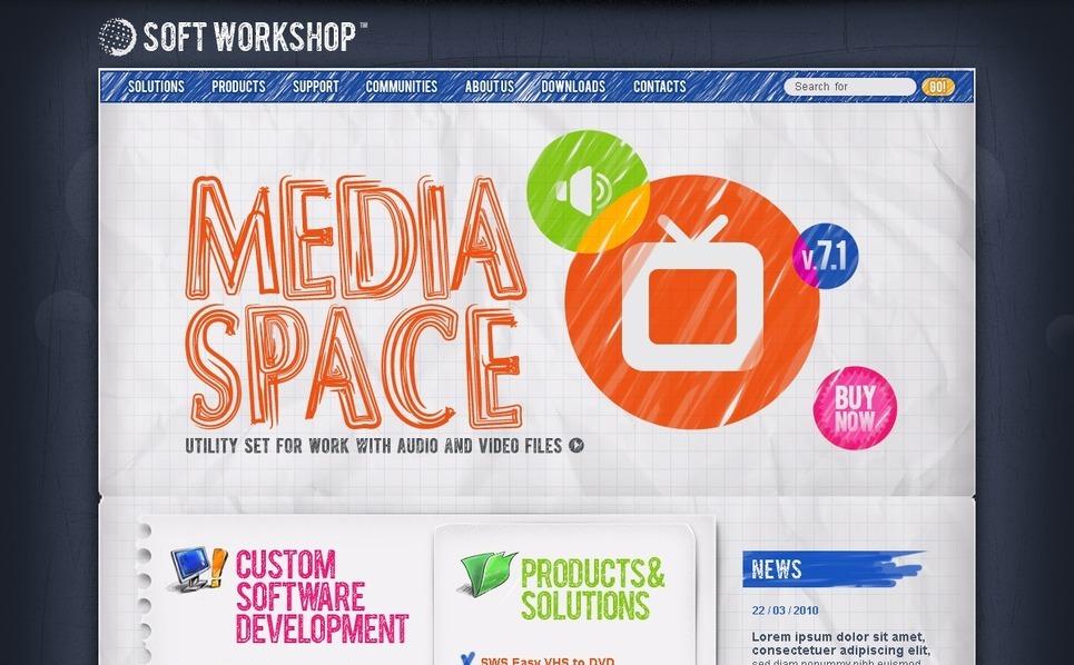 PSD шаблон №54140 на тему компания программного обеспечения New Screenshots BIG