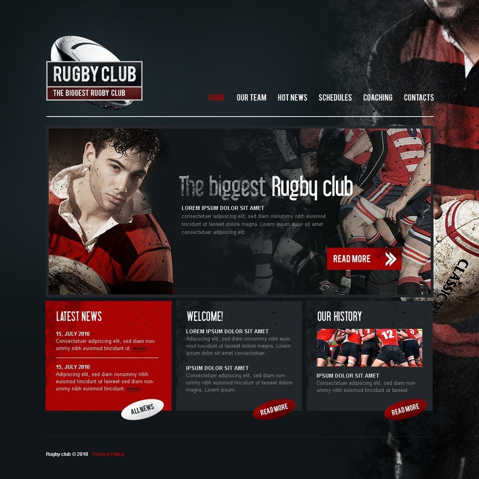 Rugby PSD Template New Screenshots BIG