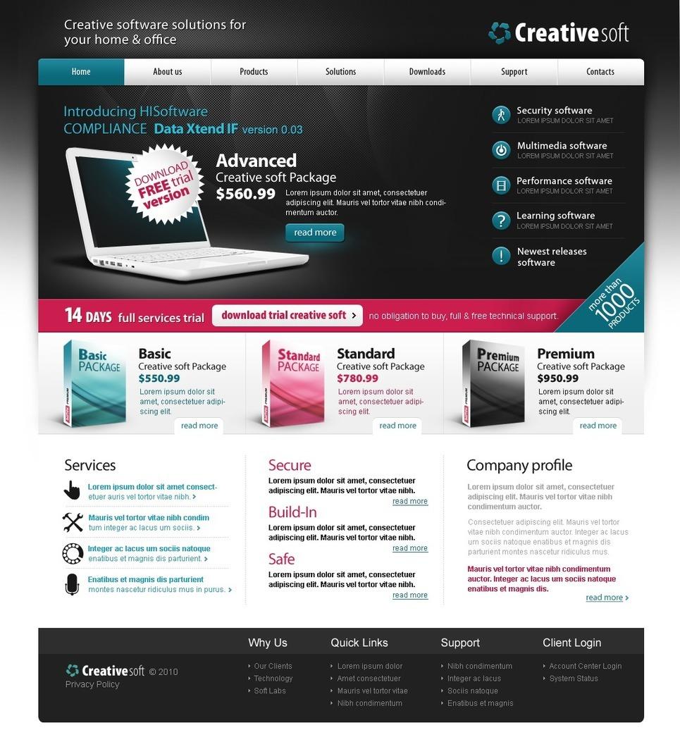 Software Company PSD Template New Screenshots BIG