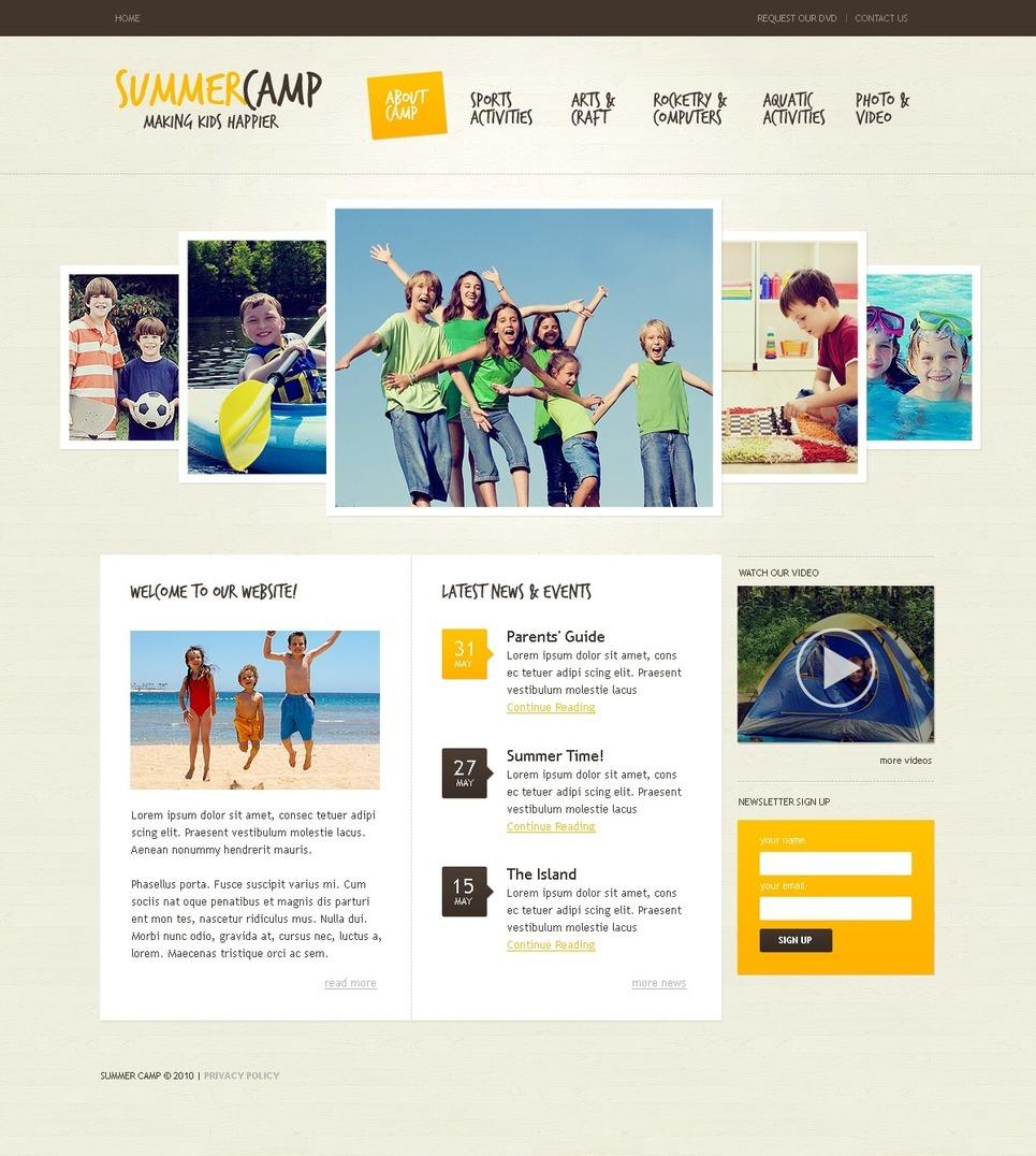 Summer Camp PSD Template New Screenshots BIG