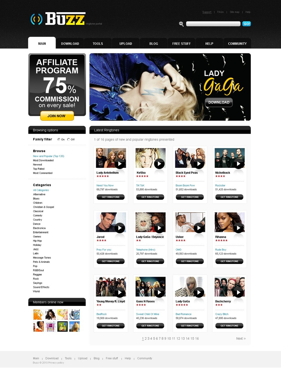 Video Gallery PSD Template #54105