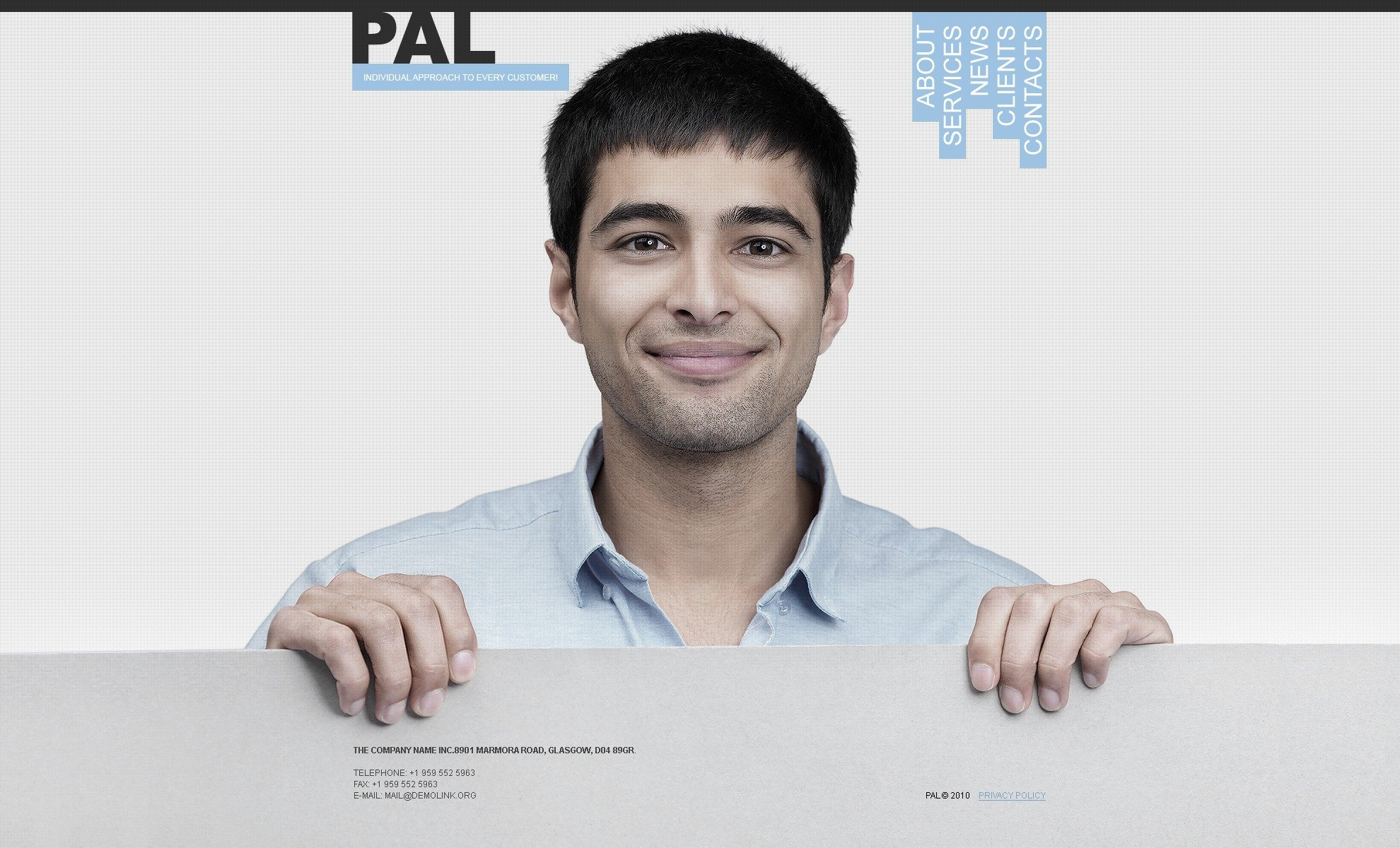 The Pal Business Company PSD Design 54201, one of the best PSD templates of its kind (business, wide, jquery), also known as pal business company PSD template, corporate solutions PSD template, innovations PSD template, contacts PSD template, service PSD template, support PSD template, information dealer PSD template, stocks PSD template, team PSD template, success PSD template, money PSD template, marketing PSD template, director PSD template, manager PSD template, analytics PSD template, planning PSD template, limited PSD template, office PSD template, sales and related with pal business company, corporate solutions, innovations, contacts, service, support, information dealer, stocks, team, success, money, marketing, director, manager, analytics, planning, limited, office, sales, etc.