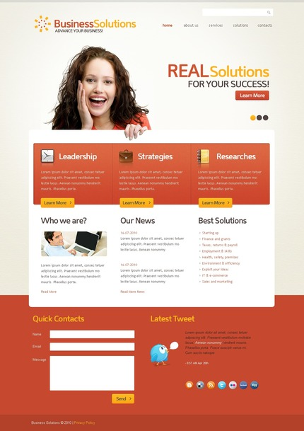 ADOBE Photoshop Template 54205 Home Page Screenshot