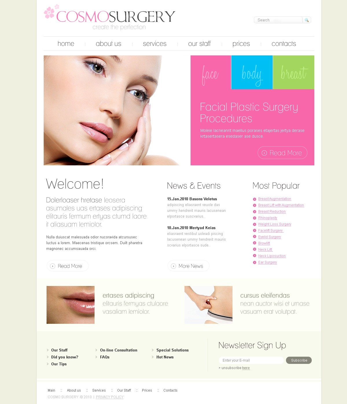 The Cosmo Surgery PSD Design 54206, one of the best PSD templates of its kind (medical, wide, jquery), also known as cosmo surgery PSD template, plastic surgeon PSD template, doctor PSD template, face PSD template, beauty PSD template, lifting PSD template, body PSD template, breasts clinic PSD template, services PSD template, client PSD template, testimonials PSD template, body PSD template, help PSD template, inspection PSD template, equipment PSD template, patients PSD template, medicine PSD template, healthcare PSD template, consultation PSD template, specialists PSD template, procedure PSD template, drugs PSD template, pills PSD template, cure PSD template, vaccine PSD template, treatment and related with cosmo surgery, plastic surgeon, doctor, face, beauty, lifting, body, breasts clinic, services, client, testimonials, body, help, inspection, equipment, patients, medicine, healthcare, consultation, specialists, procedure, drugs, pills, cure, vaccine, treatment, etc.