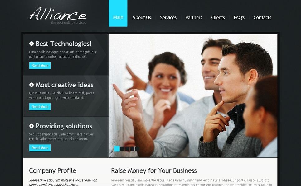 Szablon PSD #54209 na temat: biznes i usługi New Screenshots BIG