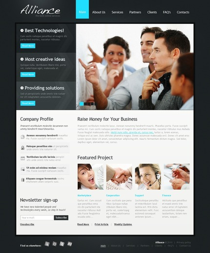 ADOBE Photoshop Template 54209 Home Page Screenshot
