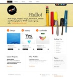 Web design PSD  Template 54210