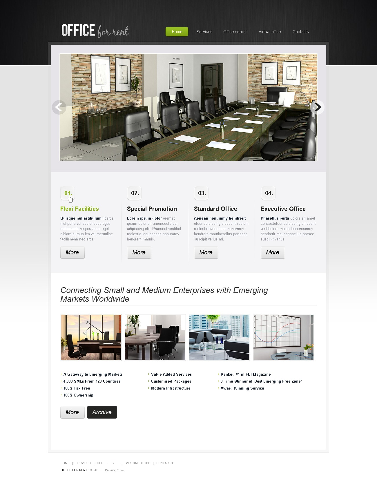 The Office For Rent PSD Design 54212, one of the best PSD templates of its kind (business, wide, jquery), also known as office for rent PSD template, room PSD template, space PSD template, meeting PSD template, business PSD template, virtual PSD template, serviced PSD template, conference and related with office for rent, room, space, meeting, business, virtual, serviced, conference, etc.