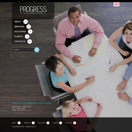 ADOBE Photoshop Template 54213 Home Page Screenshot