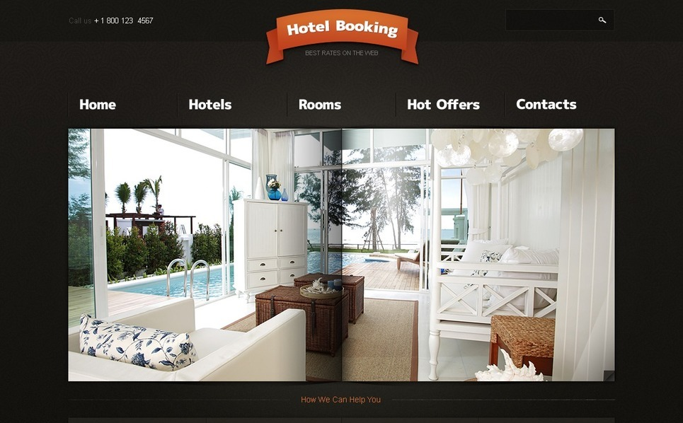 Plantilla PSD #54216 para Sitio de Hoteles New Screenshots BIG