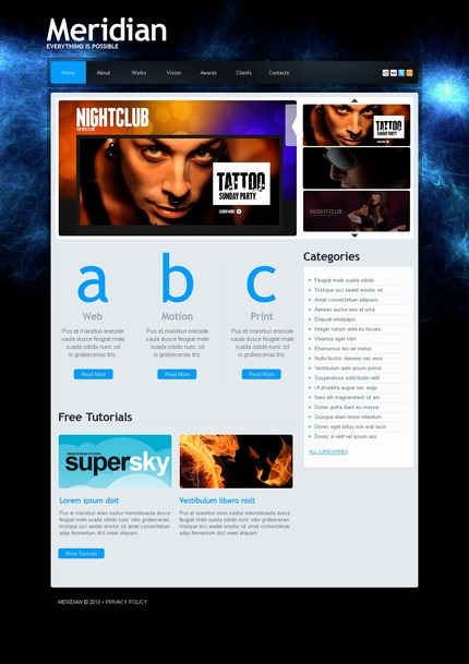 ADOBE Photoshop Template 54219 Home Page Screenshot